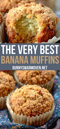 Pavlova, Easy No Bake Desserts, Delicious Desserts, Yummy Food, Banana Crumble Muffins, Banaba Muffins, Healthy Banana Muffins, Banana Muffins With Yogurt, Best Banana Muffins Ever