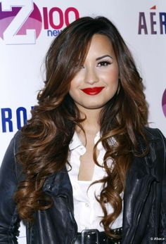 Lovato Long Ombre Hair Color 2013 Demi Lovato Long Ombre Hair Color ...
