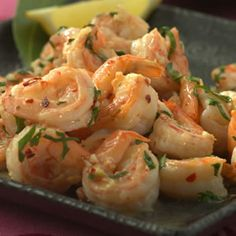 Sizzled Citrus Shrimp, Recipe from Cooking.com:This quick Spanish-inspired saute is a lesson in simplicity. All shrimp really needs to dazzle is lots of garlic and a splash of lemon. Serve as a main dish or as a tapa (appetizer).