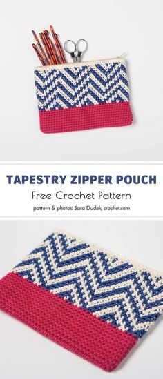 Crochet Pencil Case, Crochet Pouch, Crochet Home, Easy Crochet, Free Crochet, Tapestry Crochet Patterns, Modern Crochet Patterns, Crochet Ipad Cover, Crochet Projects To Sell
