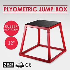 "12"" Fitness Exercise Jump Plyometric Box Step Cross Shape Outdoor Indoor Gym AU"