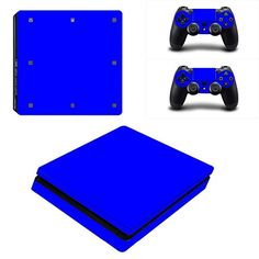 MightyStickers  Blue PS4 Slim Console Wrap Cover Skins Vinyl Sticker Decal Protective for Sony PlayStation 4 Slim  Controller * More info could be found at the image url.Note:It is affiliate link to Amazon.