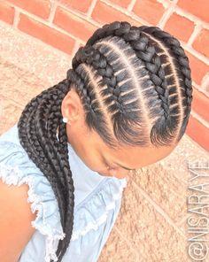 Clean braids via @nisaraye - https://blackhairinformation.com/hairstyle-gallery/clean-braids-via-nisaraye-2/