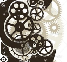 Cog Wheels Seamless — Vector EPS #clockwork #gearings • Available here → https://graphicriver.net/item/cog-wheels-seamless/1585405?ref=pxcr