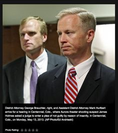 District Attorney George Brauchler and Assistant District Attorney Mark Hurlbert