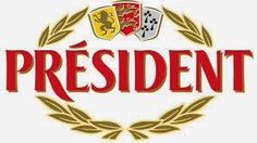 Président's logo comprises the brand name surmounted by the heraldic coats of arms of Nord-Pas-de-Calais, Normandy and Brittany, garlanded by a laurel wreath, symbol of distinguished achievement. (Click through for further information)