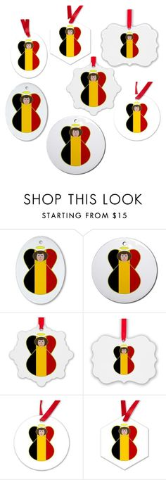 """""""Belgian Angel Flag Ornaments"""" by auntieshoe ❤ liked on Polyvore featuring interior, interiors, interior design, home, home decor, interior decorating, belgium and christmasornaments"""