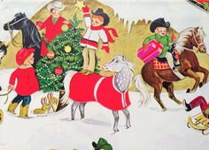 Vintage Christmas Gift Wrapping Paper  by TheGOOSEandTheHOUND, $12.00