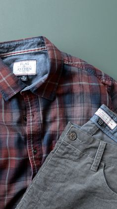 f245cac84da Shirt and Cords from Flag and Anthem Co.  corduroy  mensflannel  flannel  Obleky
