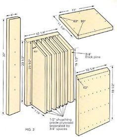 27 Bat House Plans: Bat Nurseries, Bat Rocket Boxes, Bird + Bat Boxes
