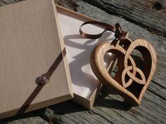 OAK TRIQUETRA HEART Celtic Wooden Hanging Ornament. £29.50, via Etsy.
