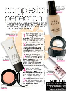 Five quick tips to complexion perfection!