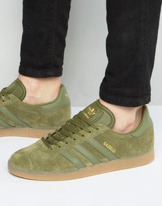 ffed8dc95596bb adidas Originals Gazelle Sneakers In Green BB5265 Klick to see the Price   men  fashion