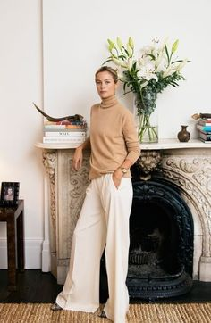 Carolyn Murphy- the outfit, the interior design, all of it! Carolyn Murphy, Brenda Torres, Business Outfit Frau, Classic Style, Style Me, White Style, Tomboy Stil, Look Office, Look Fashion