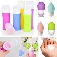 Buy Empty Silicone Travel Packing Bottle Press Bottle for Lotion Shampoo Bath Container at Mama - Thoughtful Shopping Portable Space Heater, Stila Cosmetics, Amazon Gadgets, Wooden Bow, Summer Travel, Travel Packing, Cosplay Costumes, Pink Purple, Empty