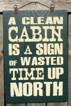 Cabin Sign. $25.00, via Etsy.