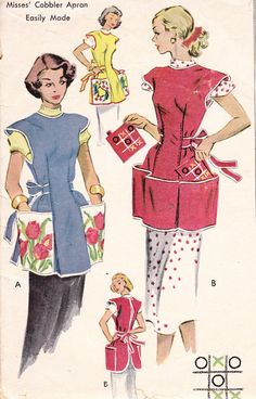Cobbler Apron Womens 1950s Vintage Sewing by Sutlerssundries, $7.99