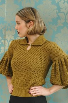 Frilly Sleeves - A Stitch in Time: Vintage Knitting & Crochet Patterns, 1920-1949.