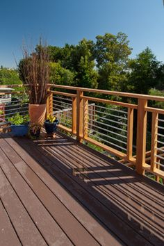 like the deck railing