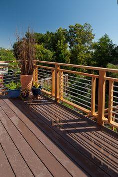 like the deck railing