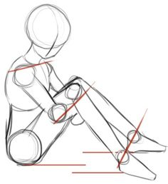 Image result for drawing sitting person in profile