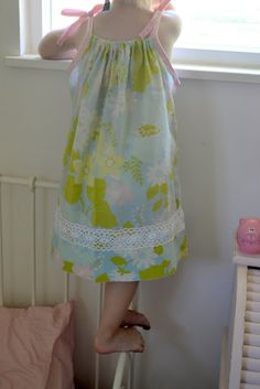 Pillowcase Dresses bias tape & elastic