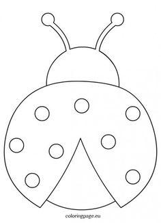 Ladybug crafts - Ladybug outline clipart coloring page Applique Patterns, Quilt Patterns, Applique Templates, Templates Printable Free, Felt Crafts, Easter Crafts, Ladybug Coloring Page, Decoration Creche, Ladybug Crafts