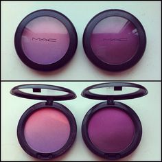 I really want to try purple blush! MAC Azalea blossom and Vintage Grape ombre blushes Blush Mac, Purple Blush, Purple Haze, Makeup Art, Beauty Makeup, Hair Makeup, Hair Beauty, Mac Makeup Looks, Blusher Makeup