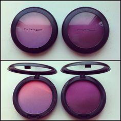 MAC Azalea blossom and Vintage Grape ombre blushes
