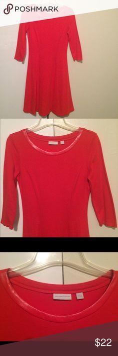 🌺Host pick 🎉🎈🎉 100% cotton-Red Dress New York & Company Dresses Long Sleeve