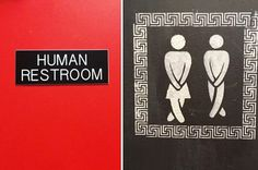 Literally just a bunch of next level gender inclusive bathroom signs 😁 https://www.buzzfeed.com/delaneystrunk/these-gender-inclusive-bathroom-signs #ART #Travel #BIZBoost 🚀