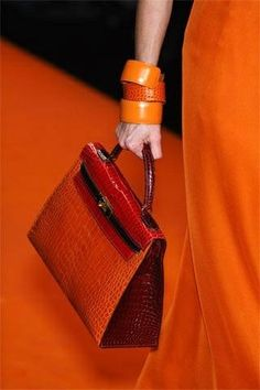 Hermes orange ...LOVE the bag