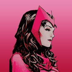 Scarlet Witch (Wanda Maximoff) Brotherhood of Mutants, Avenger. Marvel Rpg, Marvel Avengers, Elizabeth Olsen, Zbrush, Scarlet Witch Comic, Comics Illustration, Marvel Women, Marvel Wallpaper, Comics Girls