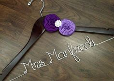 SALE Wedding Dress Hanger Personalized Hanger by DeighanDesign, $34.00