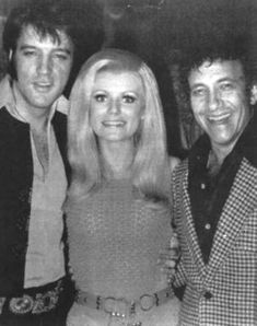 Elvis Backstage with country music star, Lynn Anderson and Sammy Shore circa 1969.