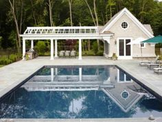 There are many interesting ways to incorporate pool house designs into larger estate plans near or far from the main home, and some even become extensions ...