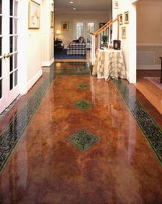 Dark Color Straight Tile Designs Hallway Designs