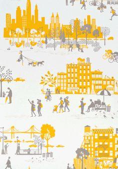 Wallpaper Morning in Manhattan - Yellow
