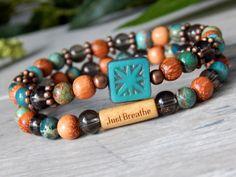 Inspiration bracelets stacked boho bracelets. Choose your word.