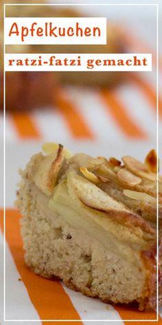 Turbo-fast apple pie - vegan or non-vegan Sweet Recipes, Vegan Recipes, Cooking Recipes, Desserts Sains, Vegan Banana Bread, Food Fantasy, Sweets Cake, Vegan Treats, Cookies