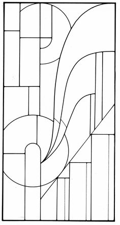 Art Deco Stained Glass Designs, Dover Publications