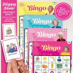 """Dial up your St. Olaf Sisters, printable bingo is here! The set includes 8 to 40 playing cards (depending on which set you purchase), 42 calling cards. The kit is super easy to print, prep, and play at home or email some of the playing cards to your friends and family members for social distance playing. Bingo Cards are 4.75 x 6.5"""" and are stepped 2 per letter size page for easy printing.❆ FAST & EASY DOWNLOAD! ❆Simply order, download, print, cut and play! ••• WHAT YOU GET WITH PURCHASE •••• (1) My Best Friend's Birthday, Golden Birthday, Sister Birthday, 30th Birthday, Printable Bingo Games, Printables, Golden Girls Gifts, Calling Cards, Bingo Cards"""