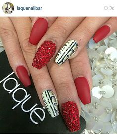 Love the red not so much the money nails