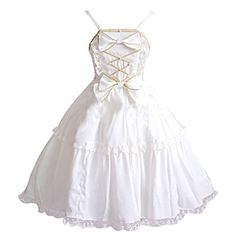 Partiss Women's Sleeveless Chiffon Lolita One-Piece Dress XS White Partiss http://www.amazon.com/dp/B01CZRVLIK/ref=cm_sw_r_pi_dp_0R08wb00P4MRH