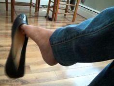 Crazy shoeplay with black flats White Ballet Flats, Red Flats, Black Flats, Leopard Flats, Feet Soles, Women's Feet, Girl Soles, Cigar Girl, Nylons Heels