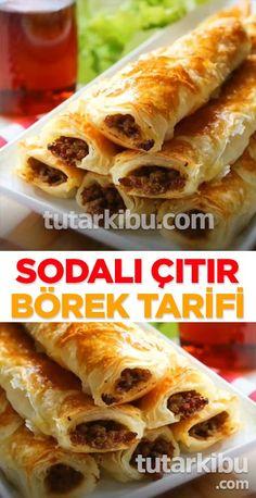 Mince Pie with Soda- Sodalı Kıymalı Börek Mince Pie with Soda - Mince Pies, Turkish Recipes, Ethnic Recipes, Vegetable Drinks, Healthy Eating Tips, Delicious Vegan Recipes, Food Menu, Easy Cooking, Pizza Recipes