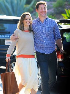 Star Tracks: Monday, April 14, 2014 | WRAP IT UP | Inside joke, eh? Emily Blunt and husband John Krasinski laugh their way out of a birthday party in West Hollywood on Sunday.