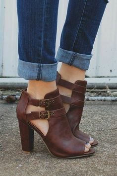 Love the style and color of bootie
