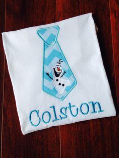 Frozen shirt Boys Frozen Shirt Olaf Tie Shirt Boys by TwoSewinCute
