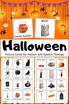 Excellent resource to use during Halloween. My students WOWed me with their writing using the prompts in this resource! Great real photos for an autism classroom! #Halloween #pecs